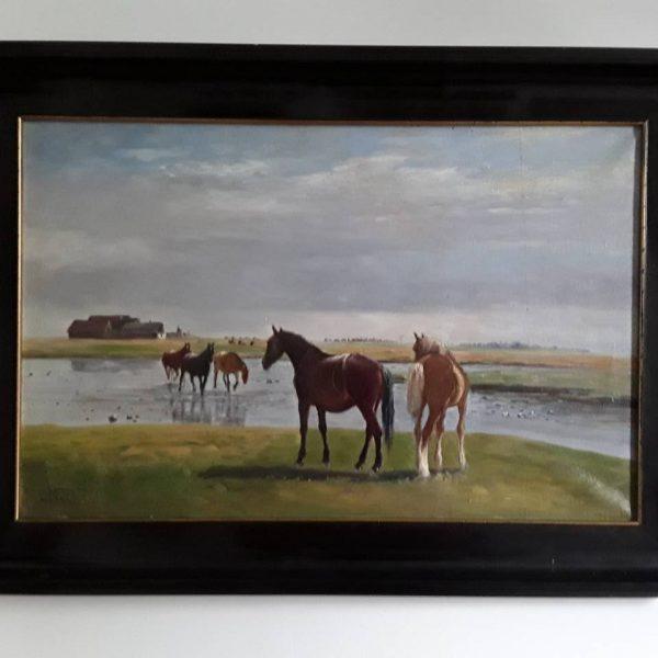 arkliai prie upes 100 eur