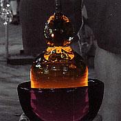puciamas 800 laipsniu balto kristalo burbulas