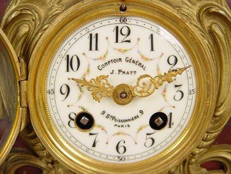 """Laikrodžio ciferblatas iš """"Le Comptoir Général""""  parduotuvės. Su J.Pratt pavarde."""