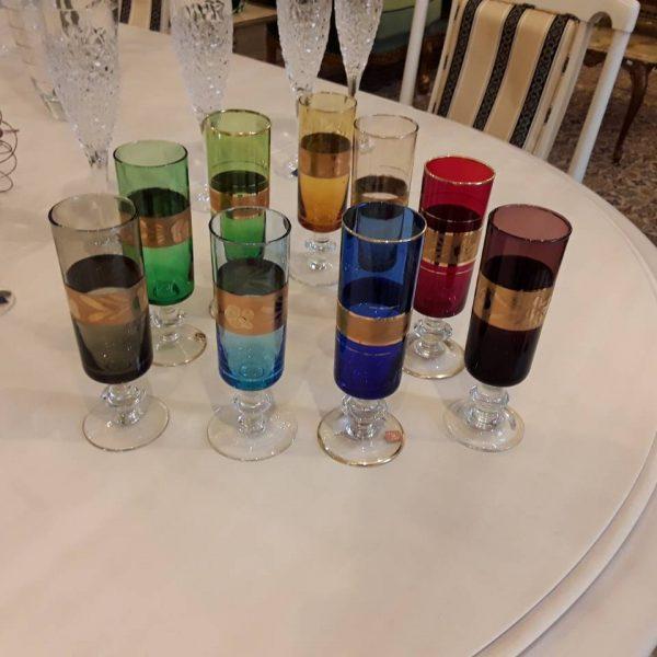 Devynios spalvoto stiklo taurės IN-31 2
