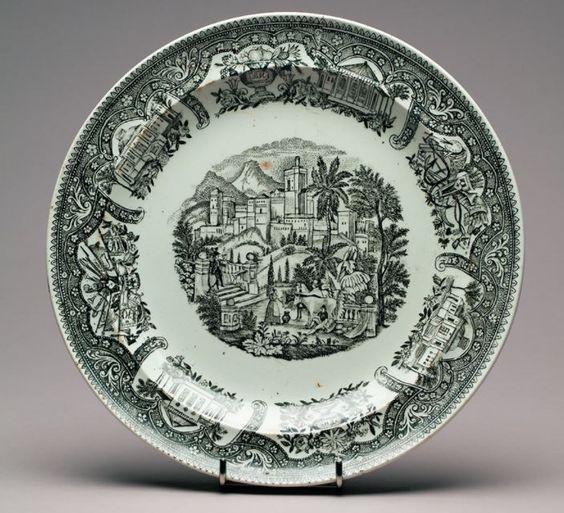 M.S. Kuznecovo fabriko porcelianinė lėkštė, 1840 metai.