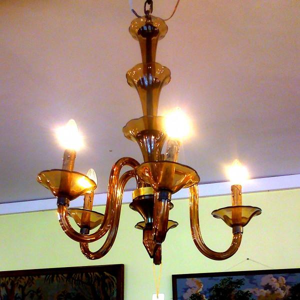 Venecijos stiklo šviestuvas 500€