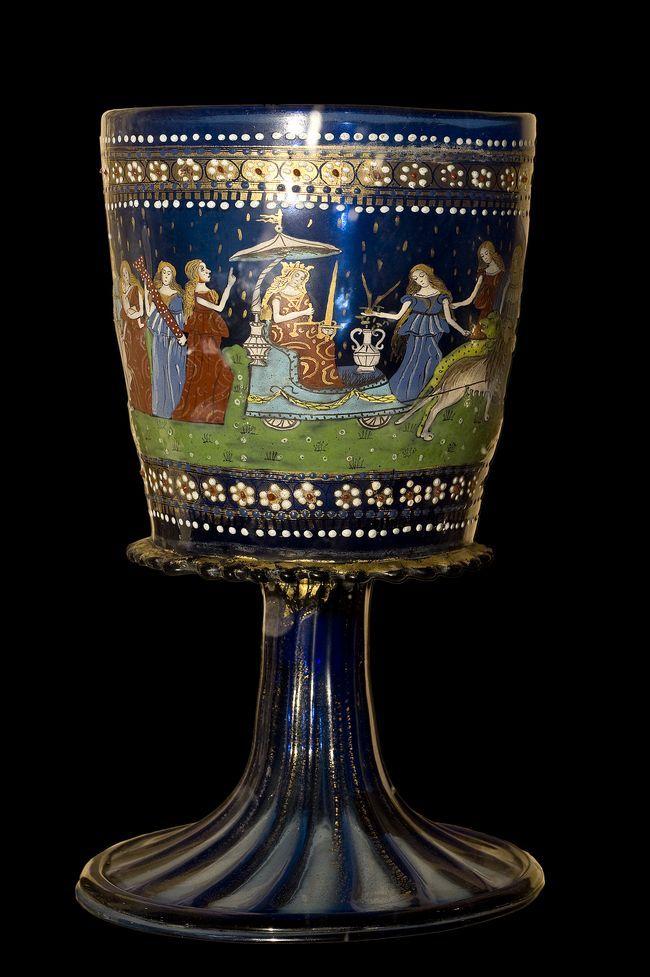 Murano stiklo taurė (15 amžius)