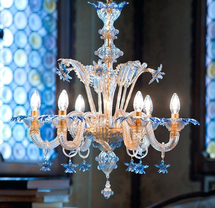 Antikvarinis Murano stiklo šviestuvas.