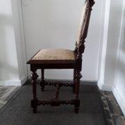 Antikvarinės ąžuolinės kėdės KD-15 11