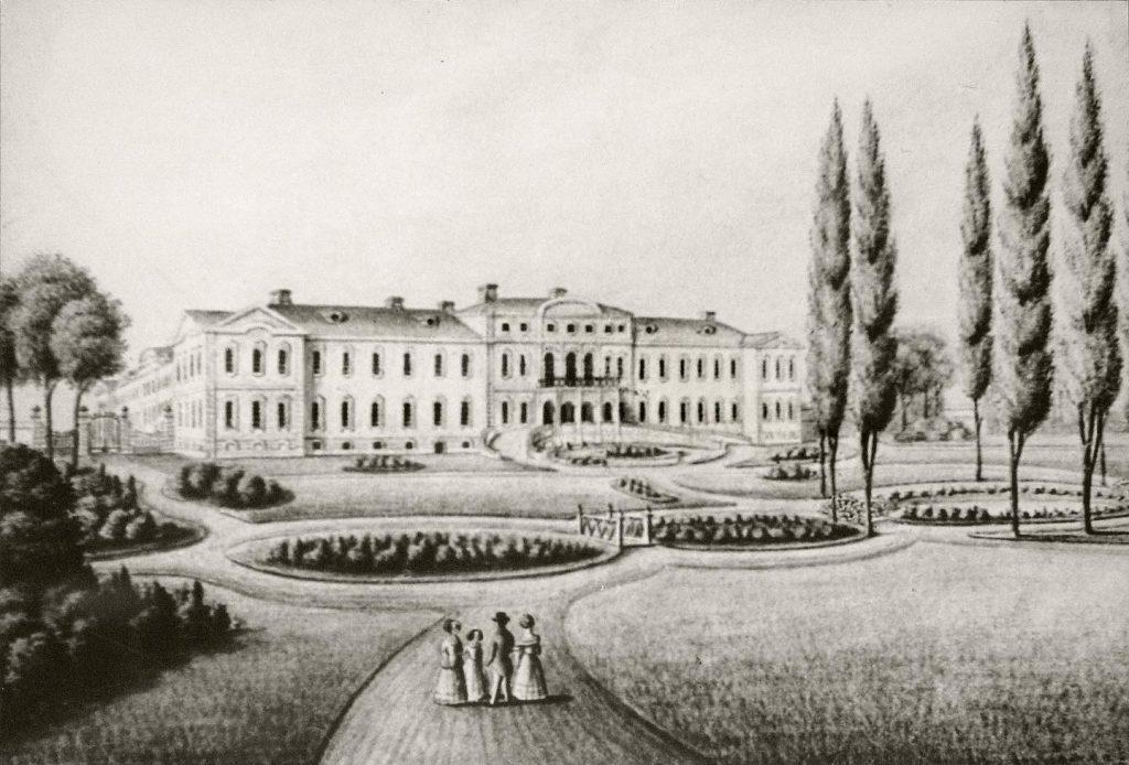 Rundale-litografija-1820-gadi