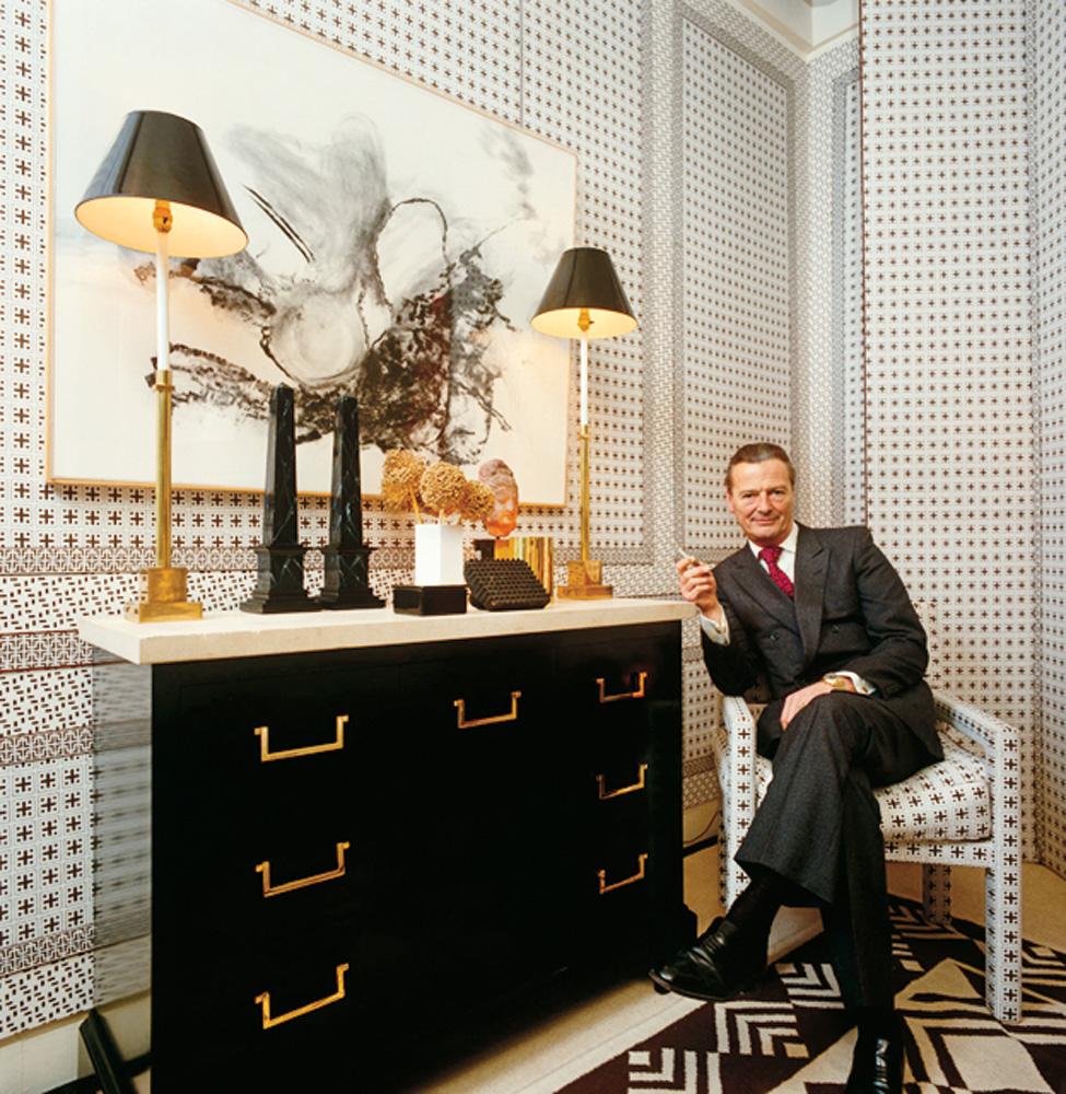 Interjero dekoratorius ir dizaineris David Nightingale Hicks savo namuose.