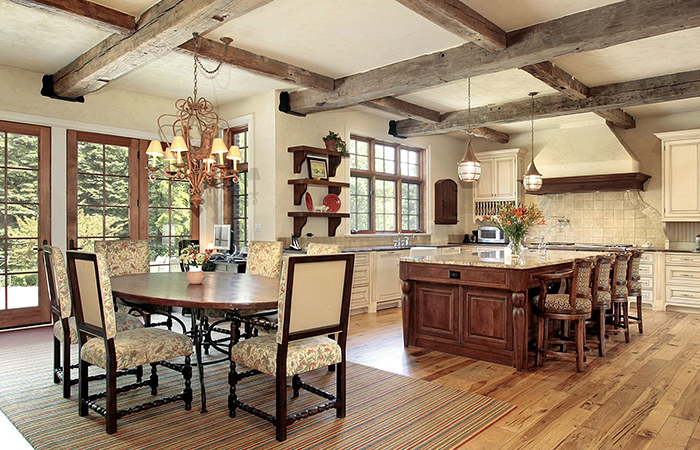 Provanso stiliaus virtuvė.