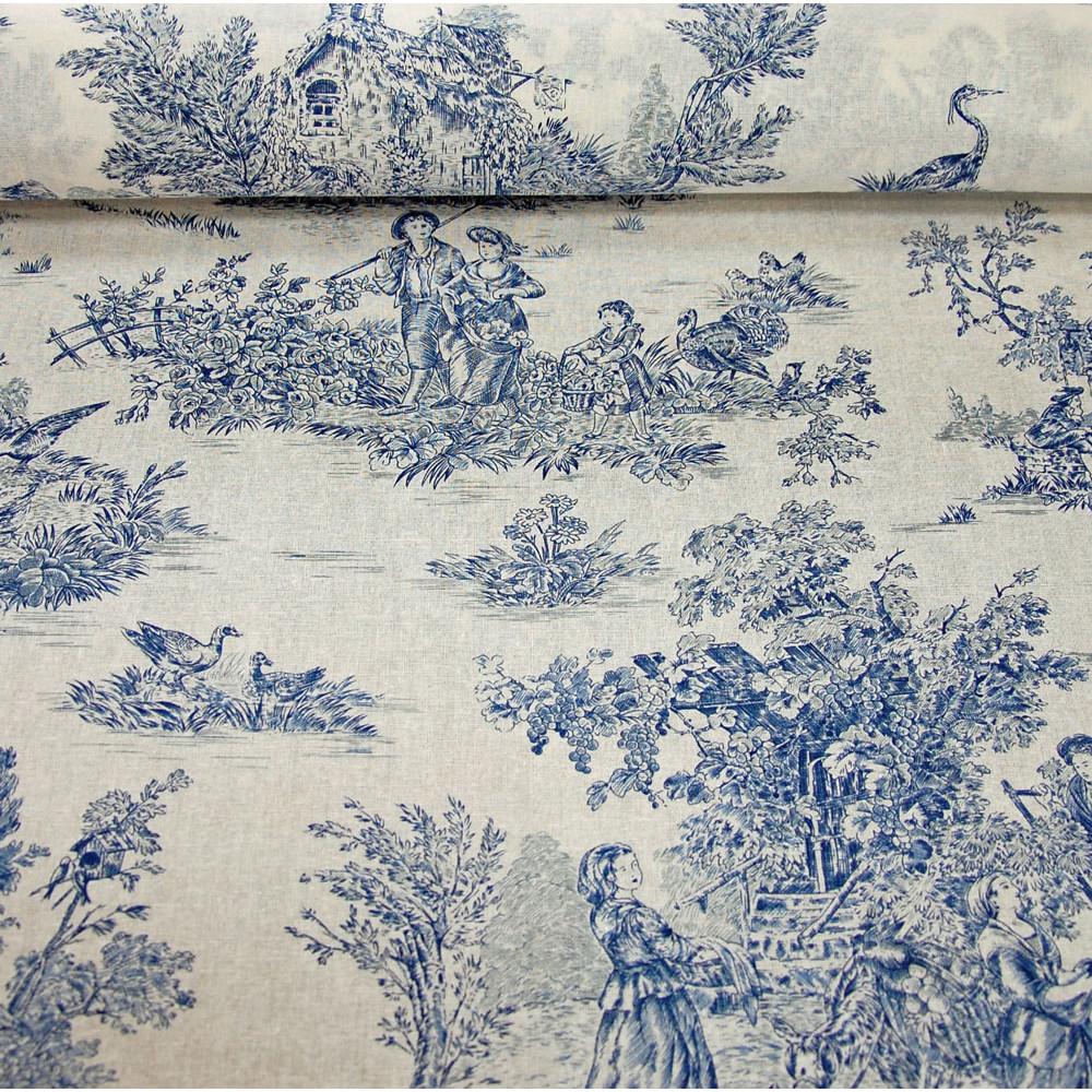 """Prancūziška toile medžiaga (""""toile"""" tai yra raštuotas audinys, kuris pasirodė Prancūzijoje 17 a.)."""